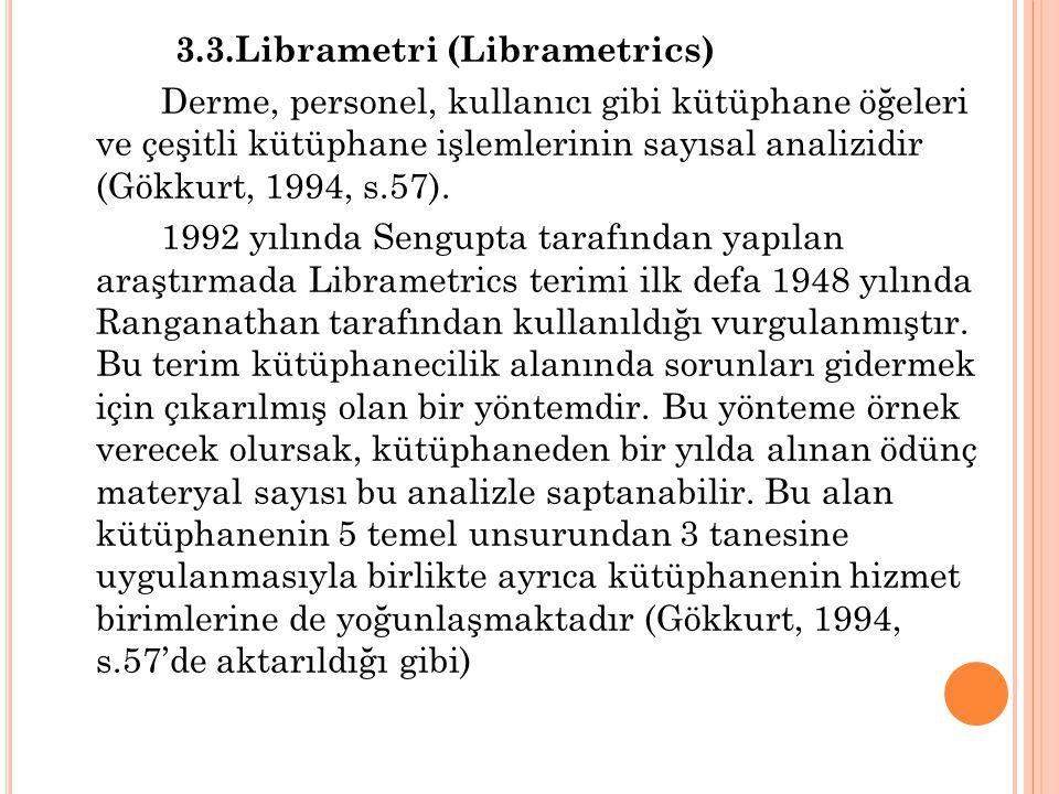 3.3.Librametri (Librametrics)