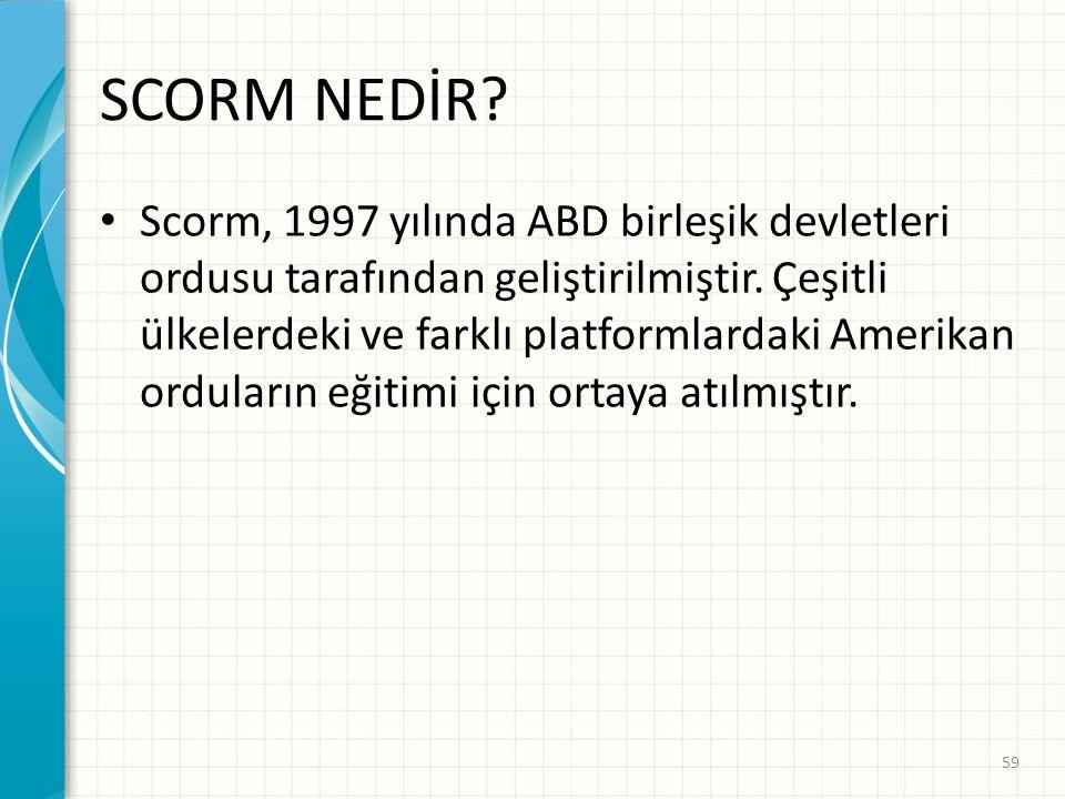 SCORM NEDİR