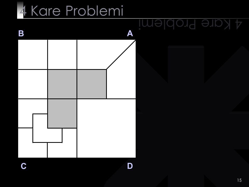 4 Kare Problemi 4 Kare Problemi B A C D