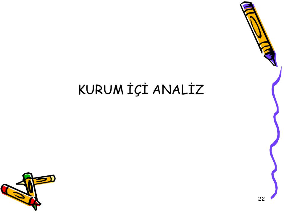 KURUM İÇİ ANALİZ