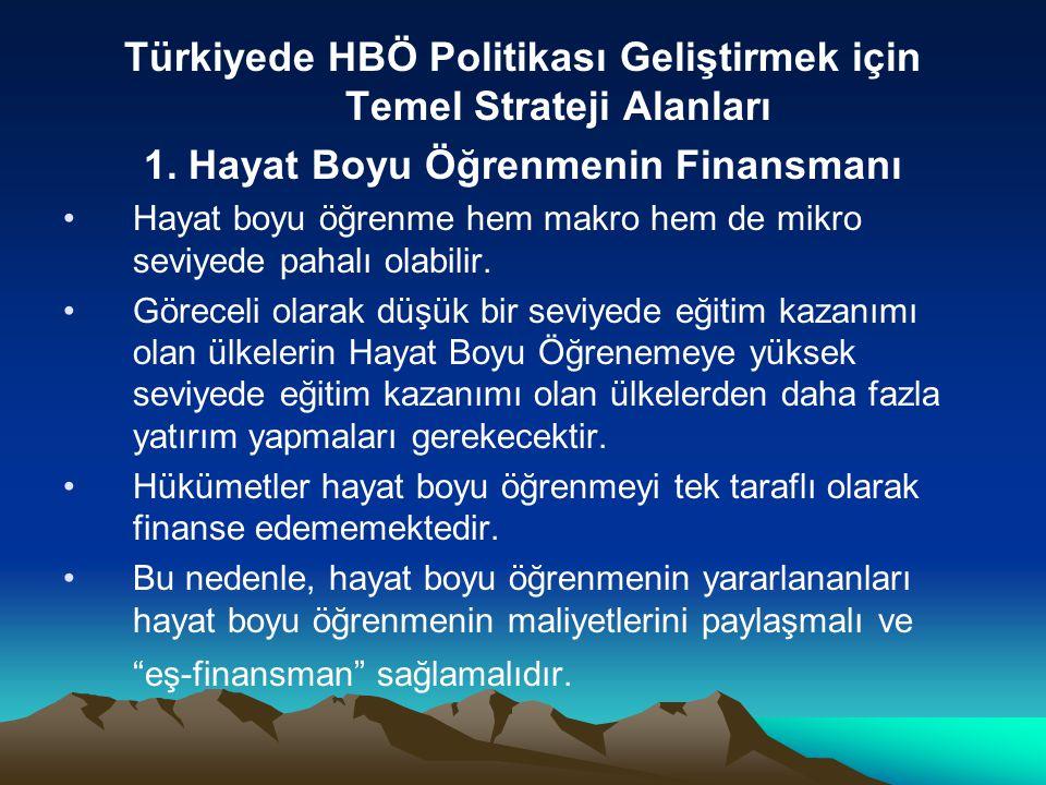 Türkiyede HBÖ Politikası Geliştirmek için Temel Strateji Alanları