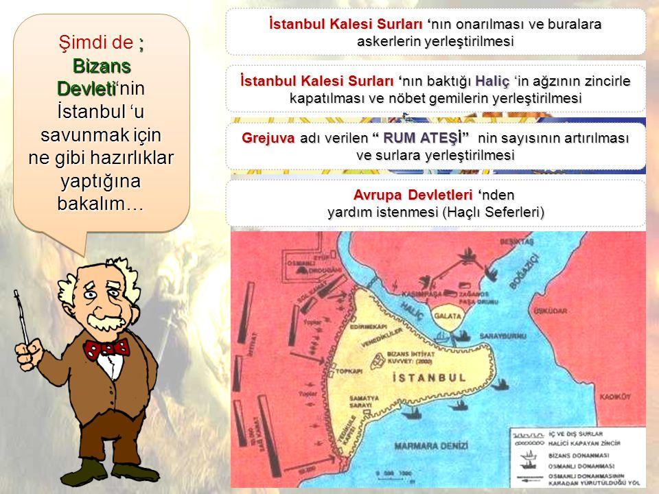 Haliç Bizans Devleti Haçlı Ordusu Osmanlı Şimdi de ;