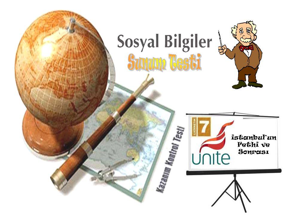 istanbul'un Fethi ve Sonrası