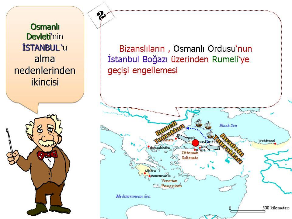 Osmanlı Devleti'nin İSTANBUL 'u alma nedenlerinden ikincisi