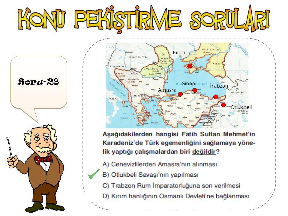 Amasra Sinop Trabzon Kırım Otlukbeli Soru-28