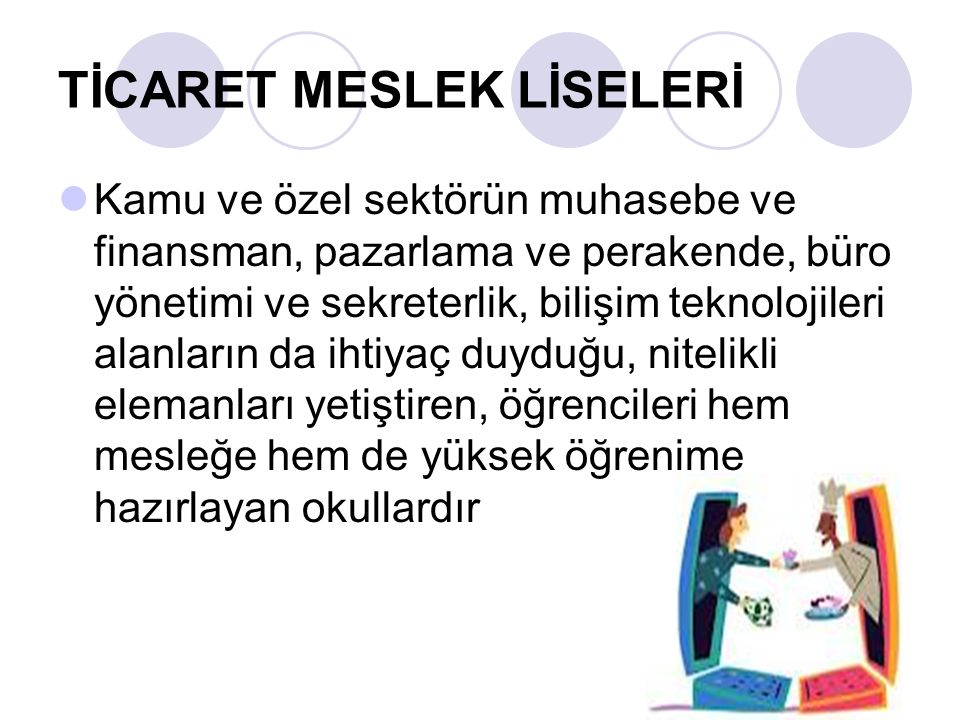 TİCARET MESLEK LİSELERİ