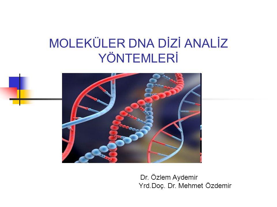 MOLEKÜLER DNA DİZİ ANALİZ YÖNTEMLERİ