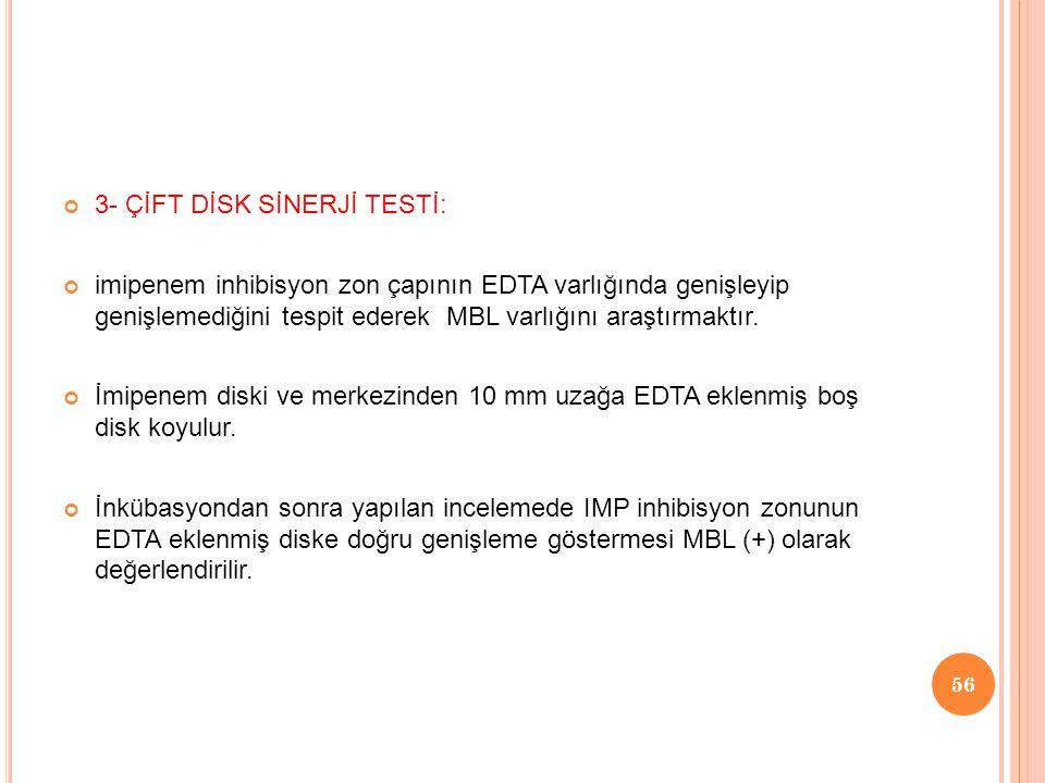3- ÇİFT DİSK SİNERJİ TESTİ: