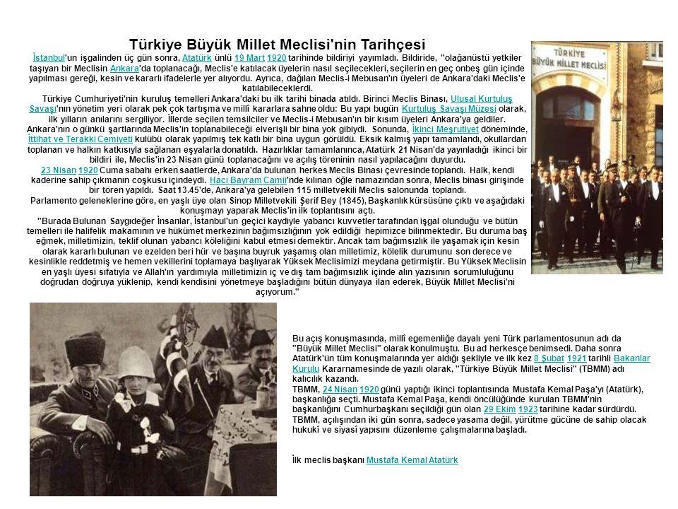 Türkiye Büyük Millet Meclisi nin Tarihçesi