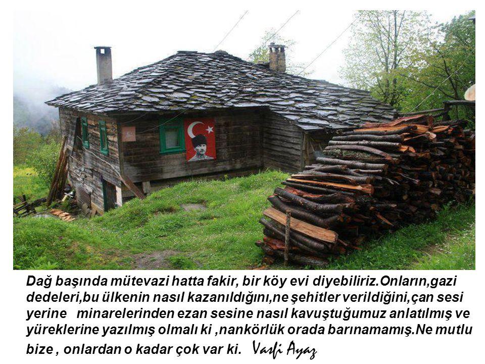 Dağ başında mütevazi hatta fakir, bir köy evi diyebiliriz