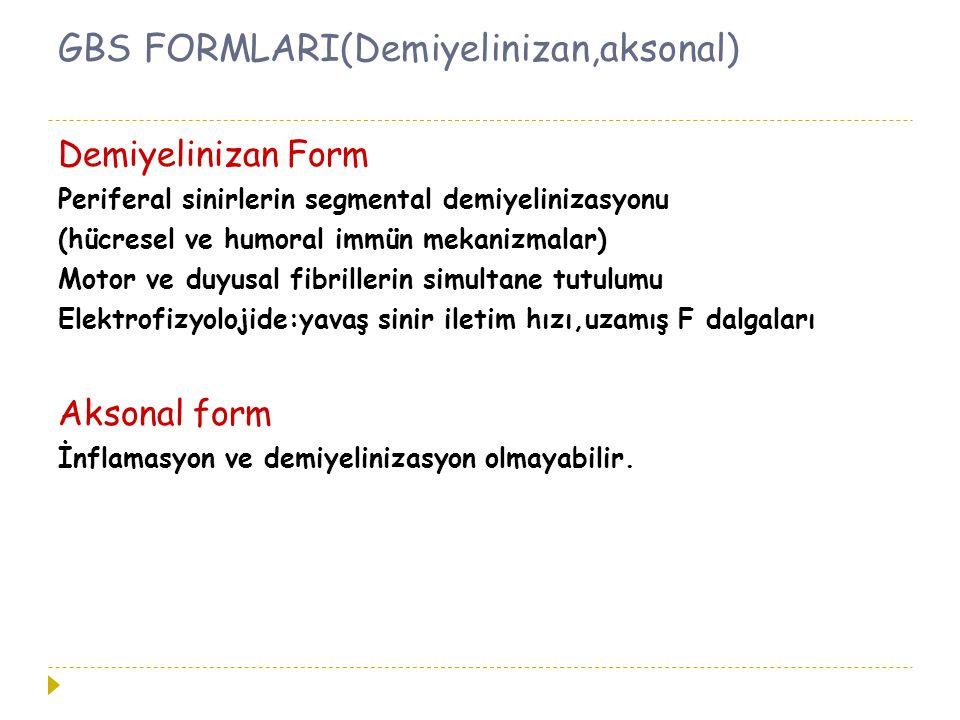 GBS FORMLARI(Demiyelinizan,aksonal)