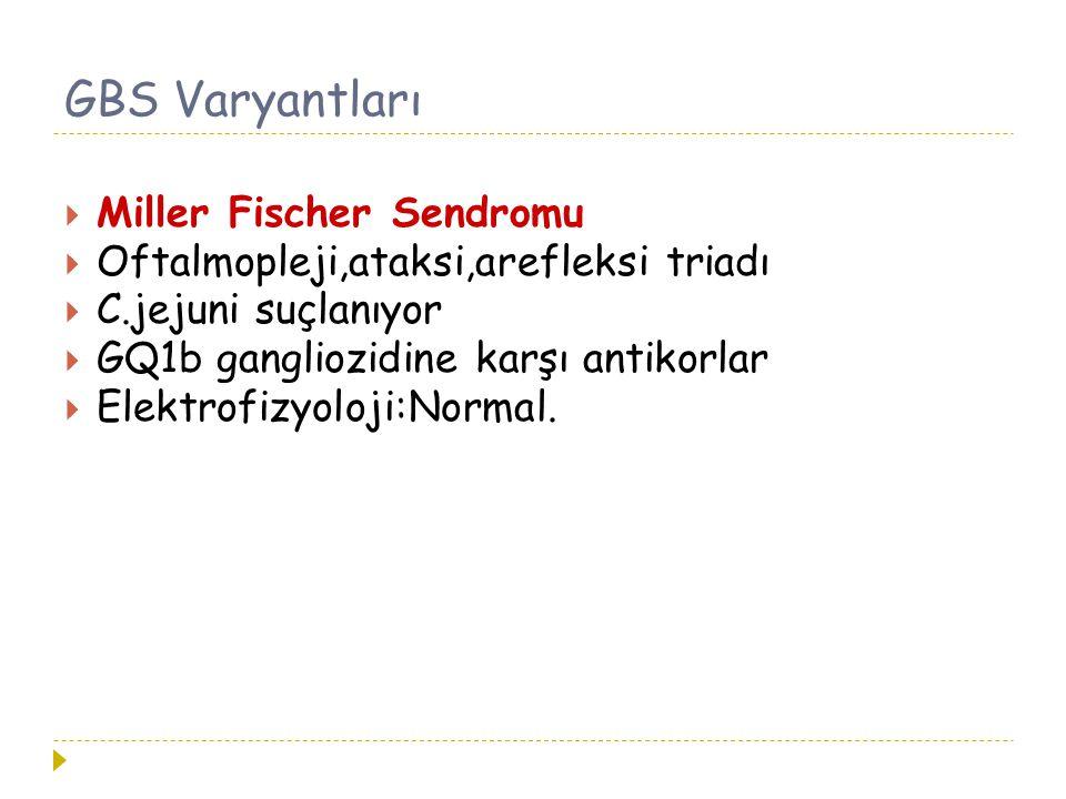 GBS Varyantları Miller Fischer Sendromu