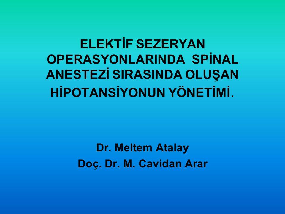 Dr. Meltem Atalay Doç. Dr. M. Cavidan Arar