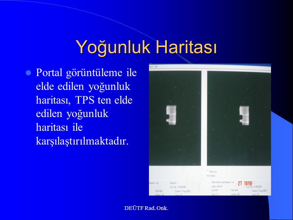 Yoğunluk Haritası Portal görüntüleme ile elde edilen yoğunluk haritası, TPS ten elde edilen yoğunluk haritası ile karşılaştırılmaktadır.