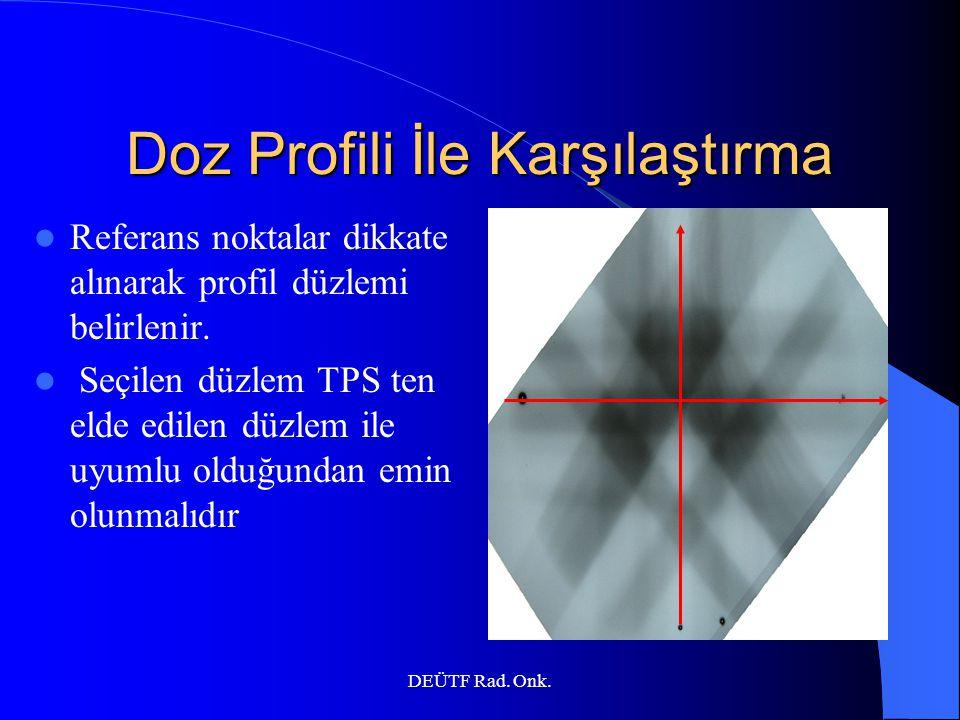 Doz Profili İle Karşılaştırma