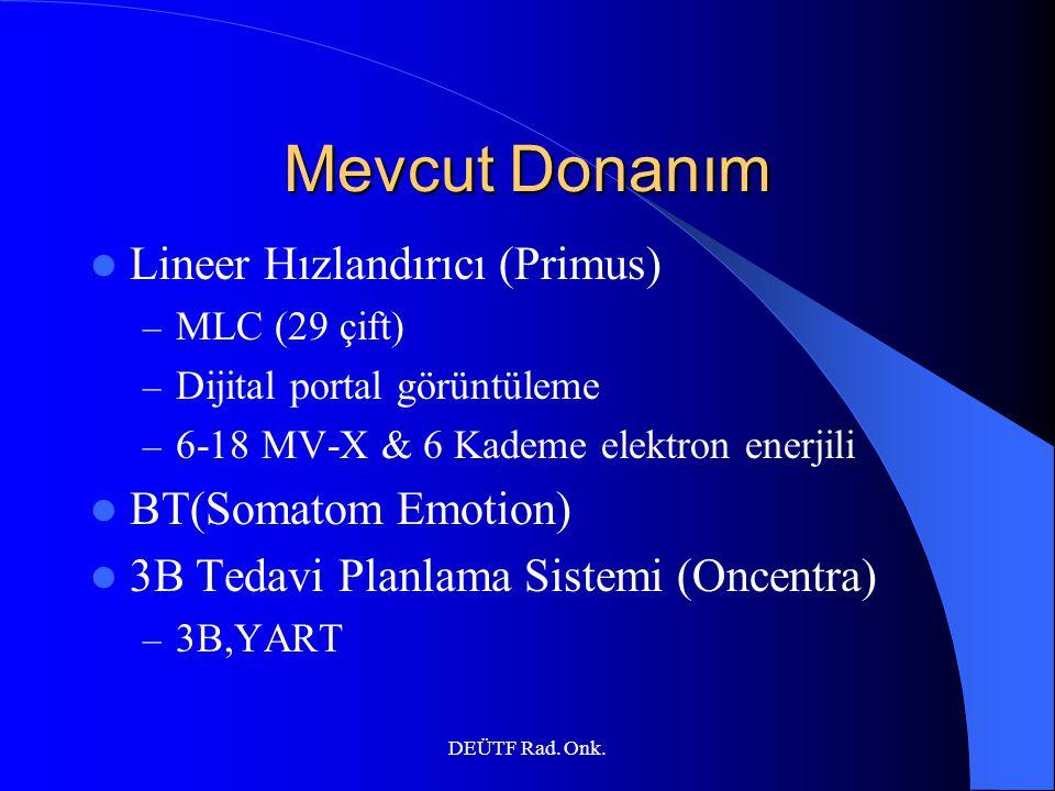 Mevcut Donanım Lineer Hızlandırıcı (Primus) BT(Somatom Emotion)
