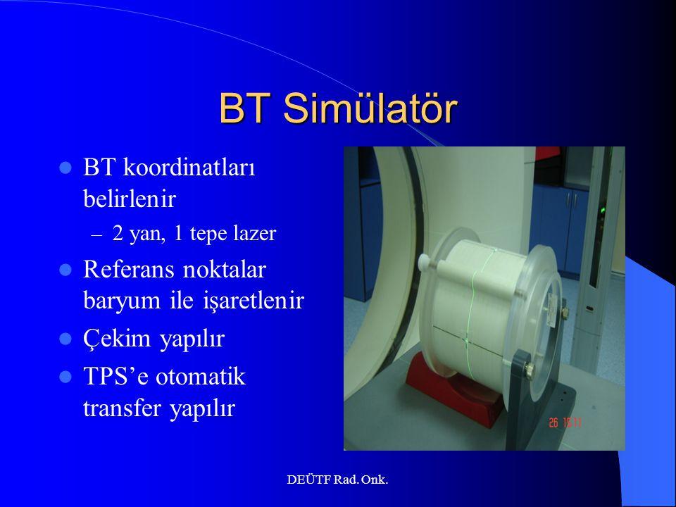 BT Simülatör BT koordinatları belirlenir