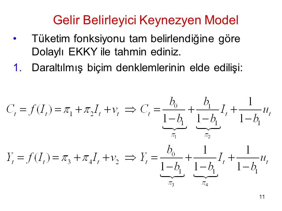 Gelir Belirleyici Keynezyen Model