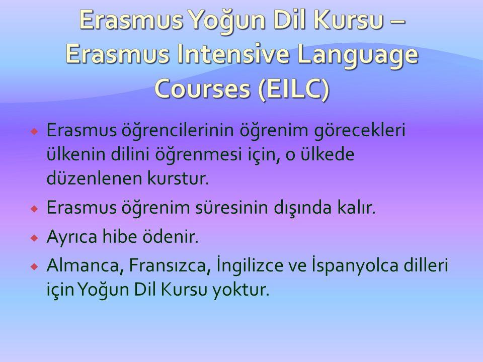Erasmus Yoğun Dil Kursu – Erasmus Intensive Language Courses (EILC)