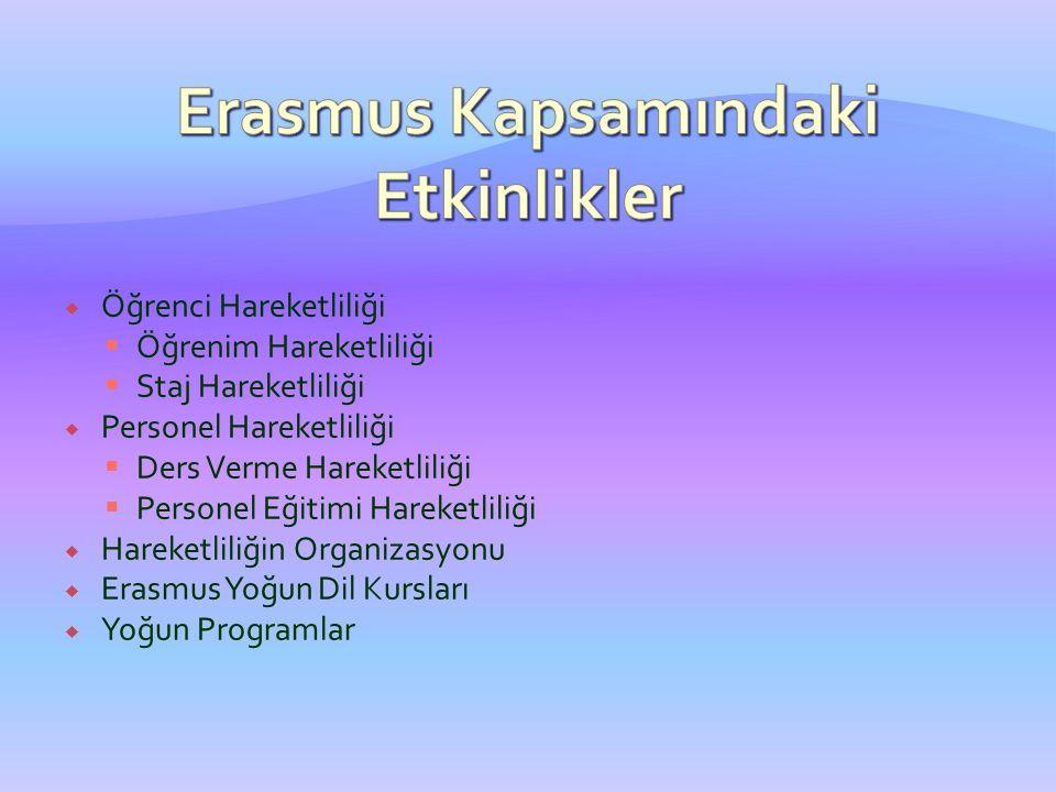 Erasmus Kapsamındaki Etkinlikler