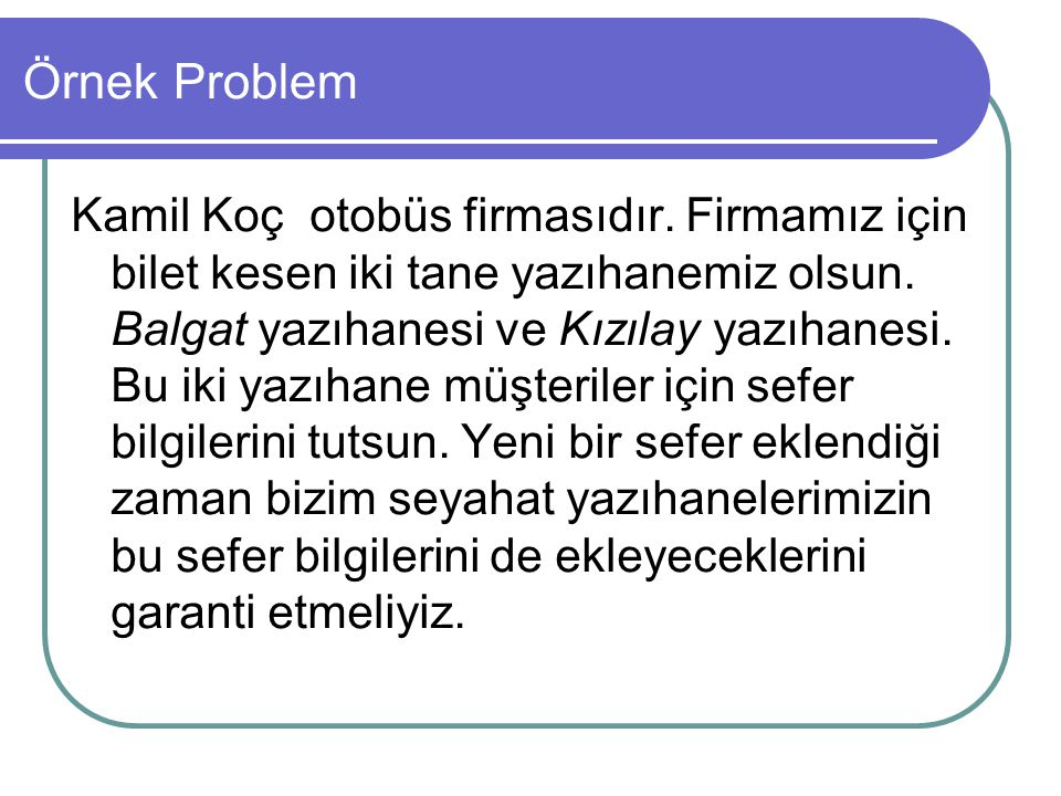 Örnek Problem