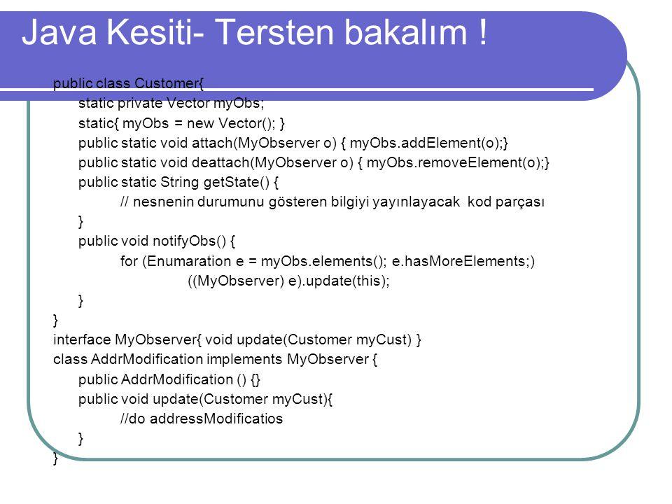 Java Kesiti- Tersten bakalım !
