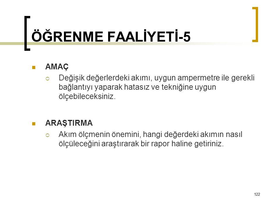 ÖĞRENME FAALİYETİ-5 AMAÇ