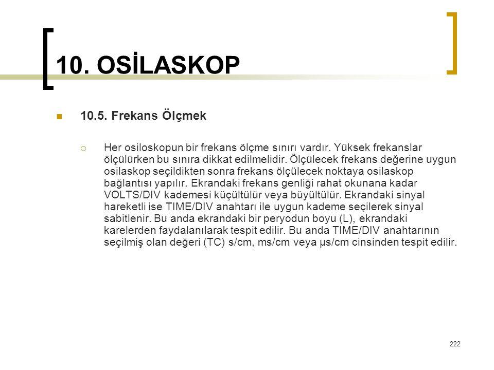 10. OSİLASKOP 10.5. Frekans Ölçmek