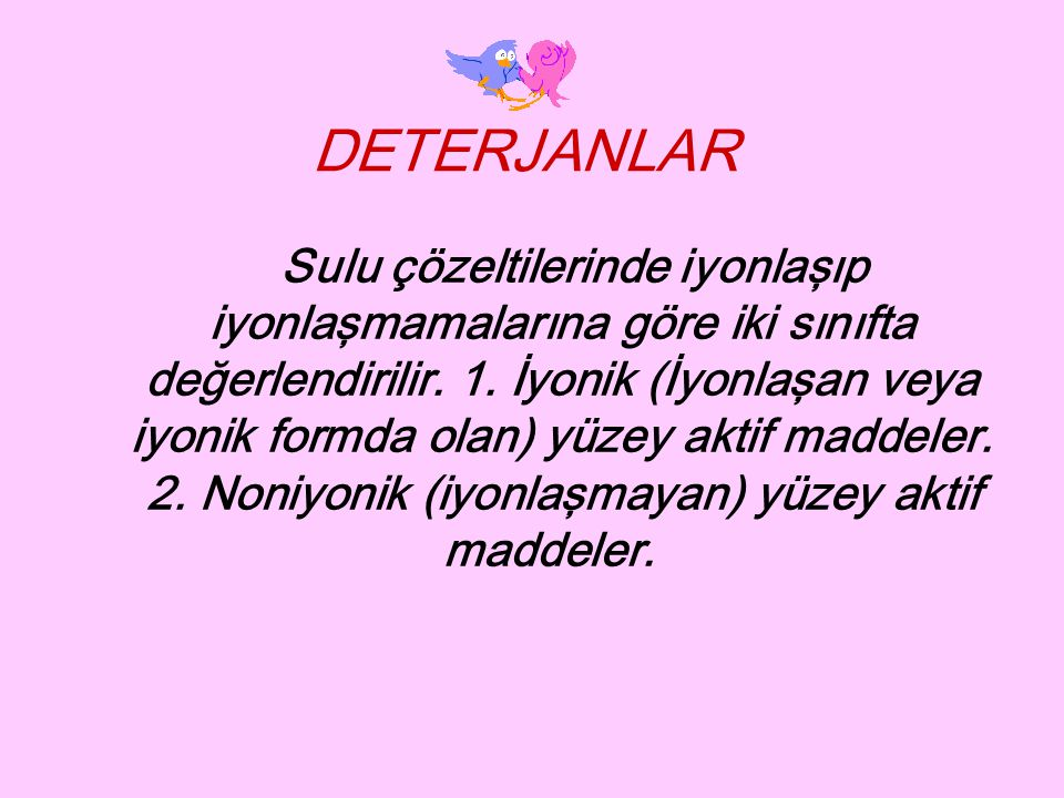 DETERJANLAR