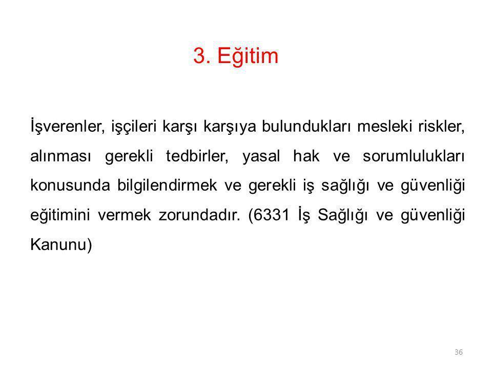 3. Eğitim