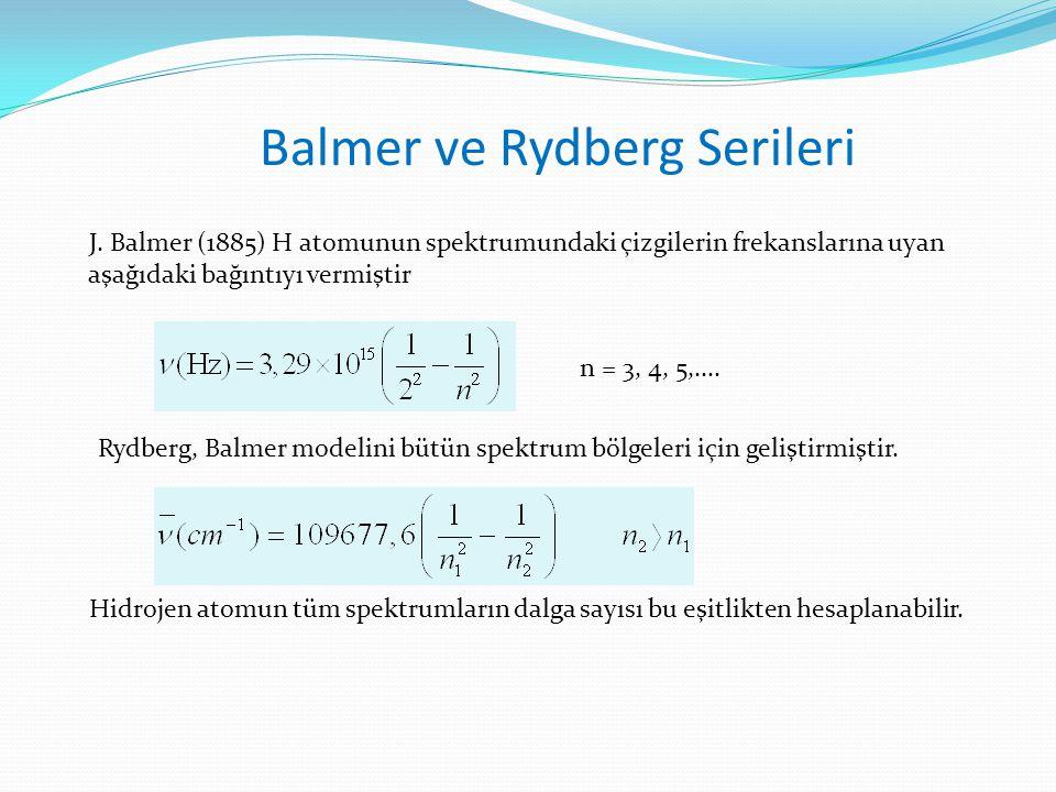 Balmer ve Rydberg Serileri