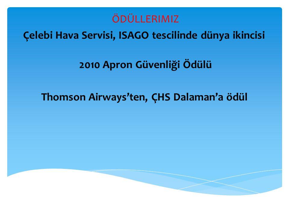 Çelebi Hava Servisi, ISAGO tescilinde dünya ikincisi