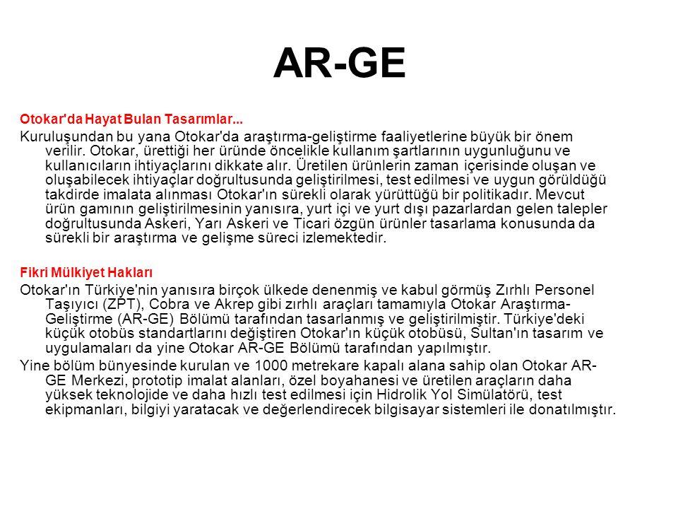 AR-GE Otokar da Hayat Bulan Tasarımlar...