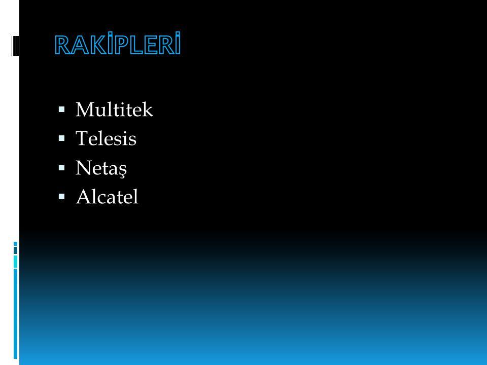 RAKİPLERİ Multitek Telesis Netaş Alcatel