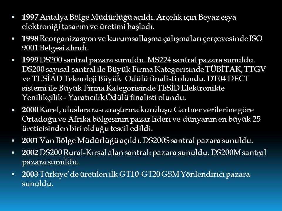 1997 Antalya Bölge Müdürlüğü açıldı