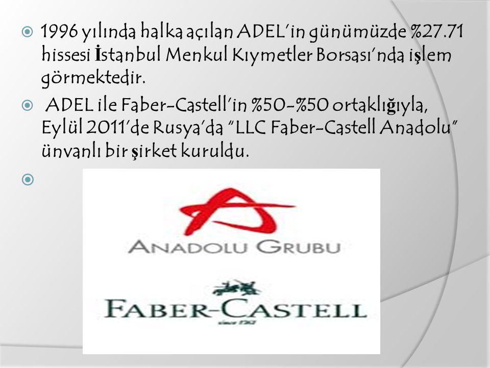 1996 yılında halka açılan ADEL'in günümüzde %27