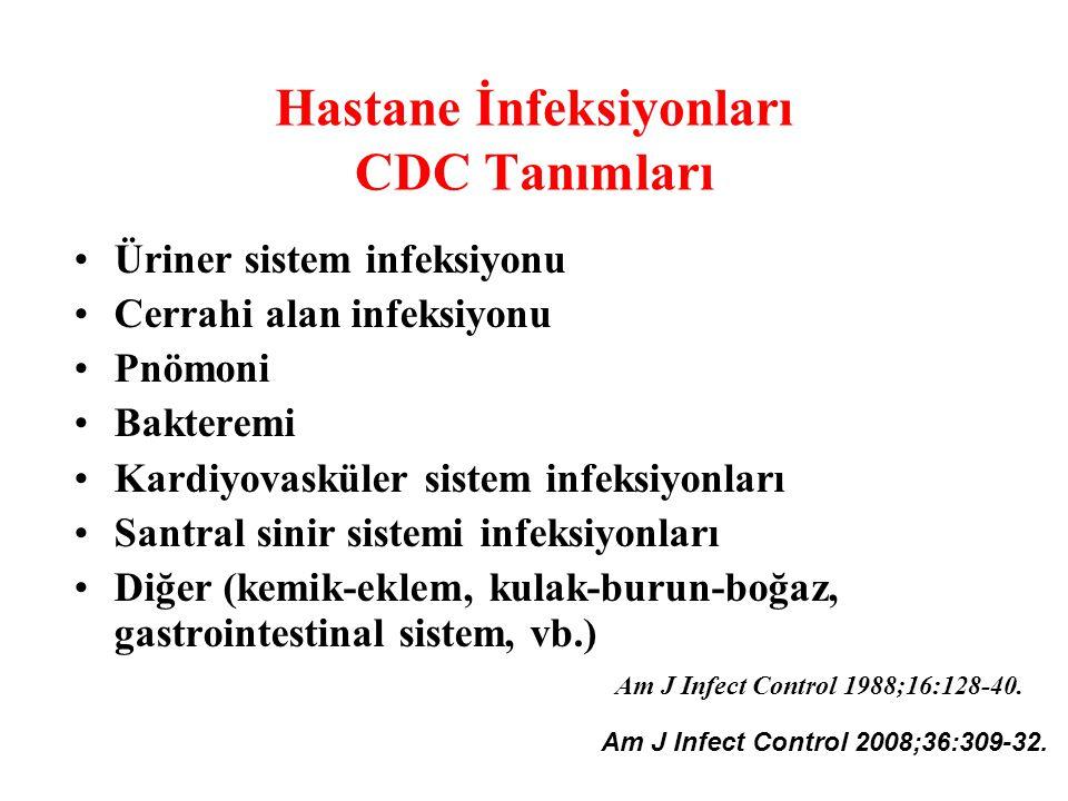 Hastane İnfeksiyonları CDC Tanımları