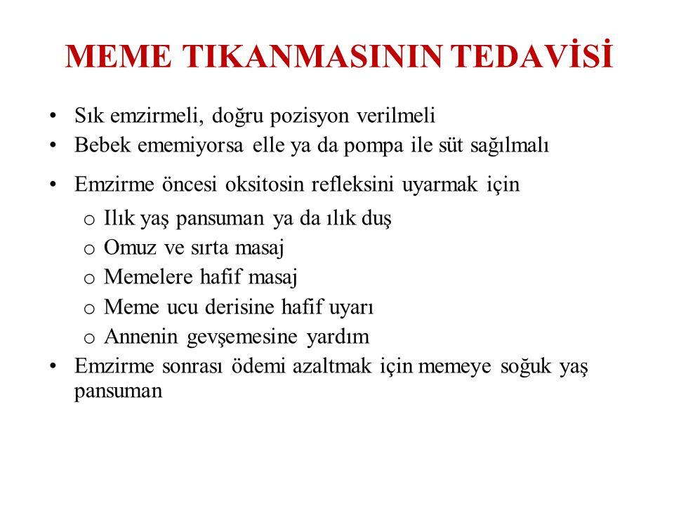 MEME TIKANMASININ TEDAVİSİ