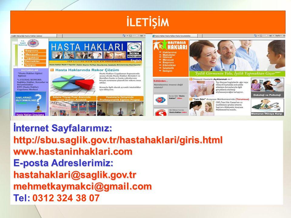 İLETİŞİM İnternet Sayfalarımız: