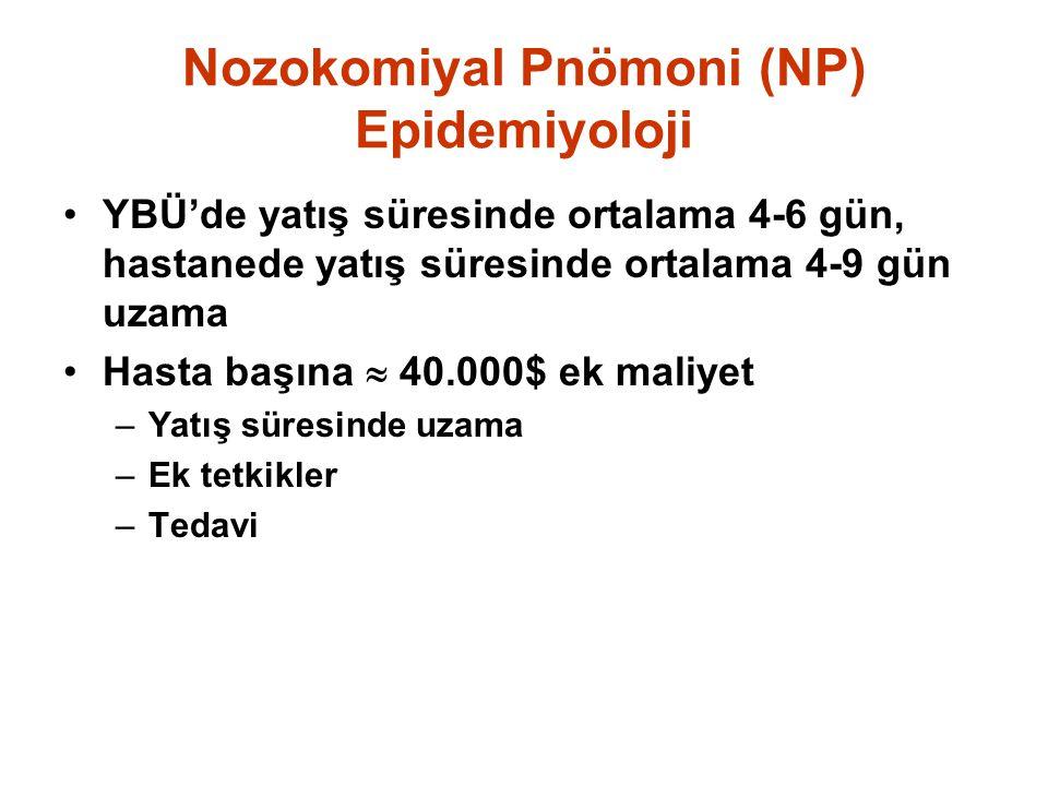 Nozokomiyal Pnömoni (NP) Epidemiyoloji
