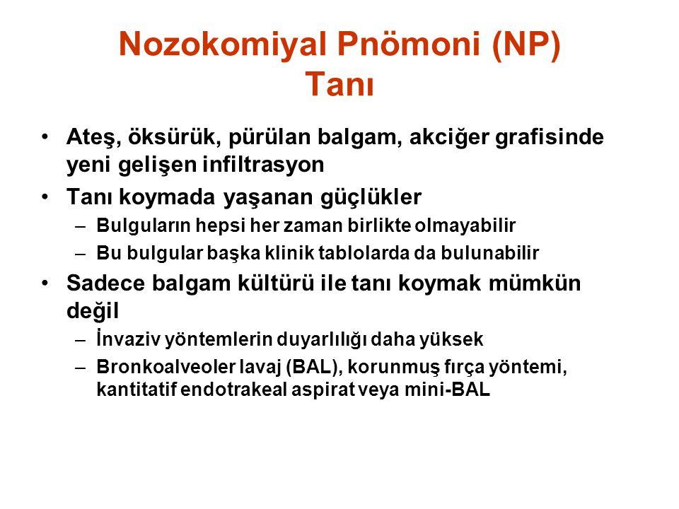 Nozokomiyal Pnömoni (NP) Tanı