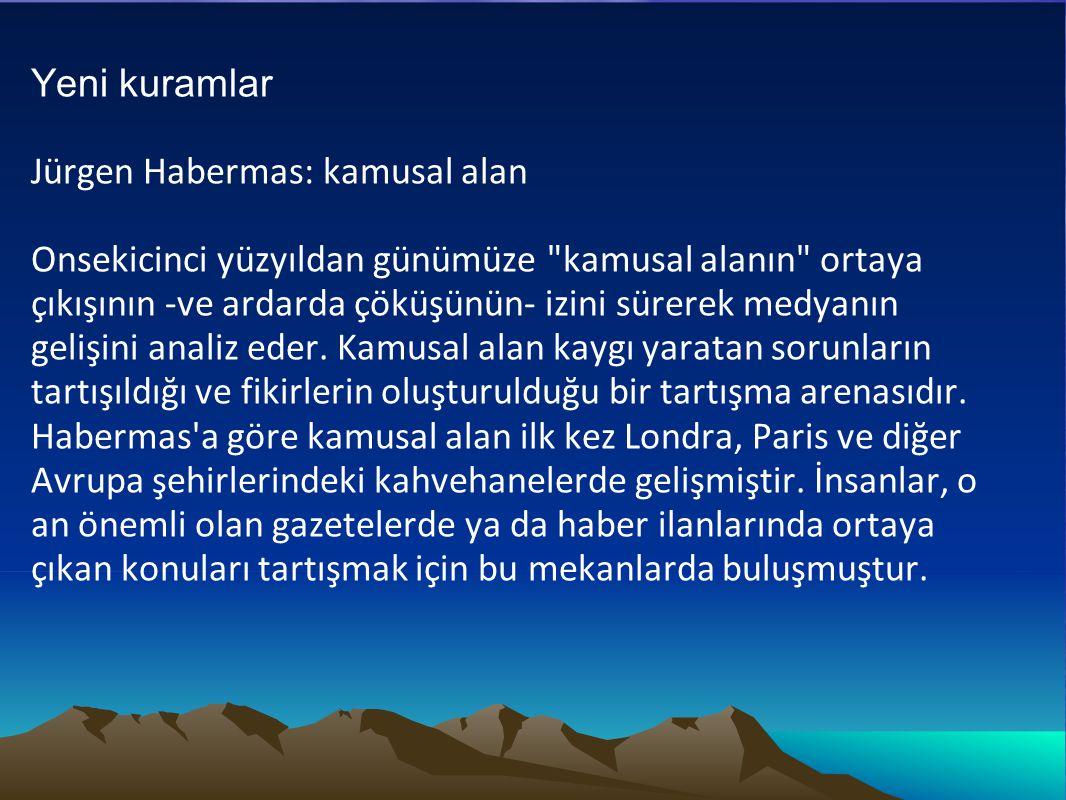 Yeni kuramlar Jürgen Habermas: kamusal alan