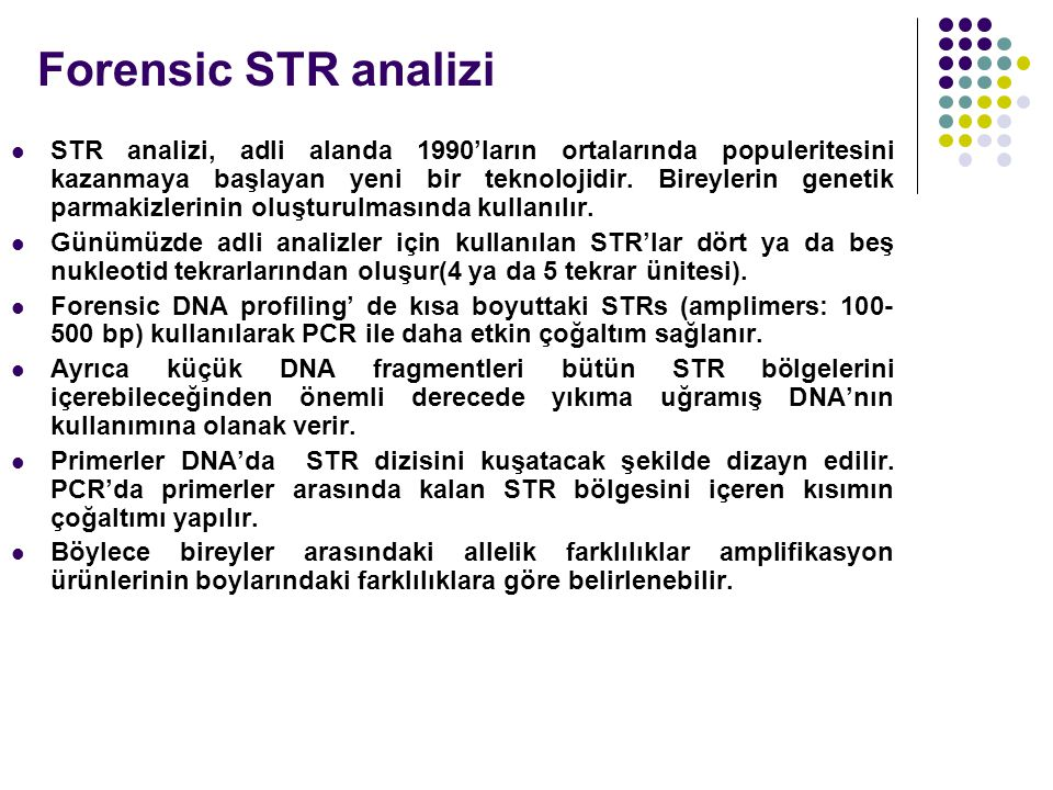 Forensic STR analizi