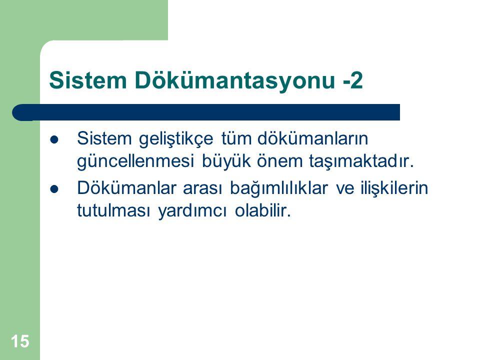 Sistem Dökümantasyonu -2