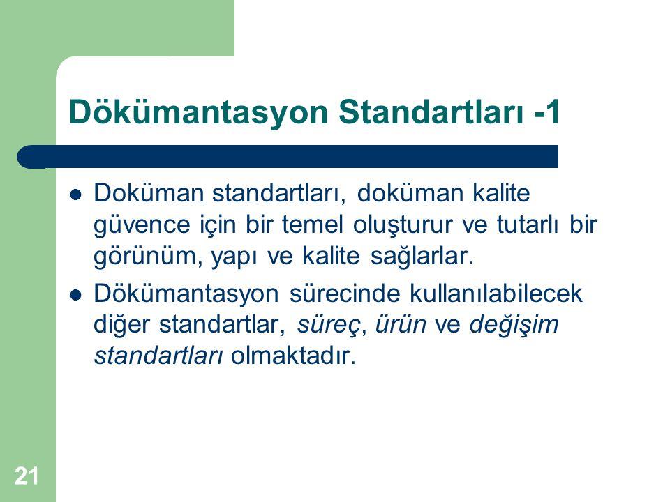 Dökümantasyon Standartları -1