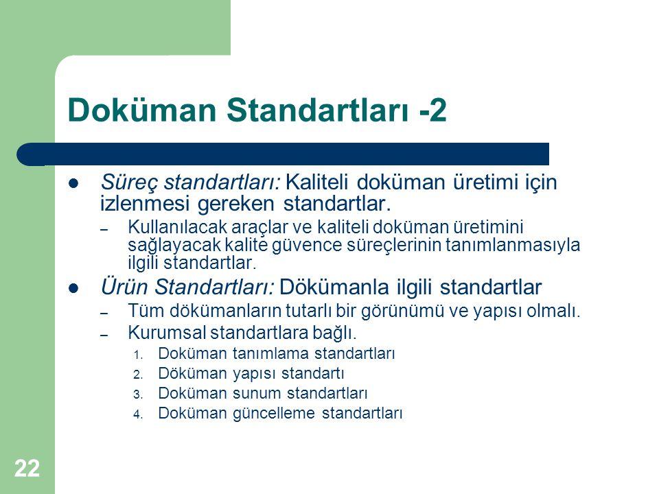 Doküman Standartları -2