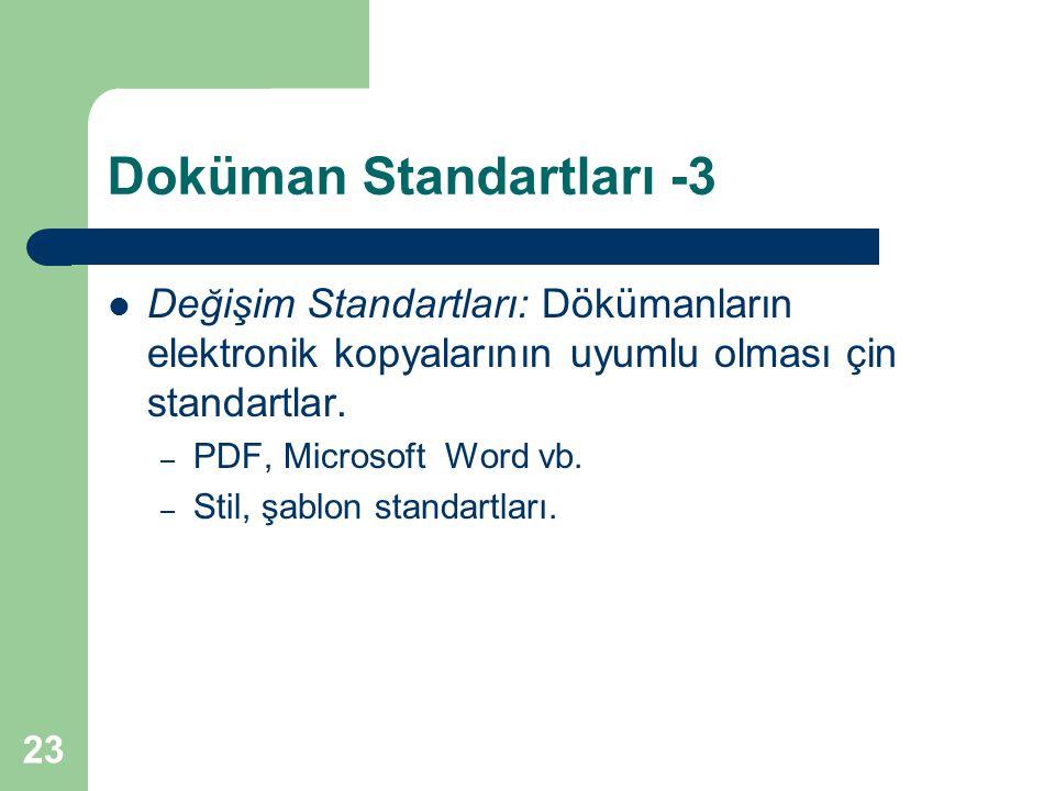 Doküman Standartları -3