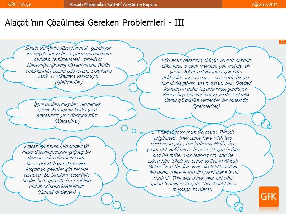 Alaçatı'nın Çözülmesi Gereken Problemleri - III