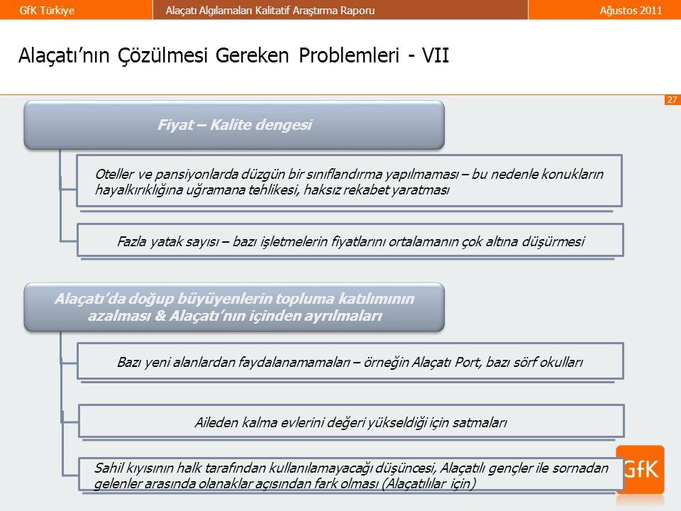Alaçatı'nın Çözülmesi Gereken Problemleri - VII