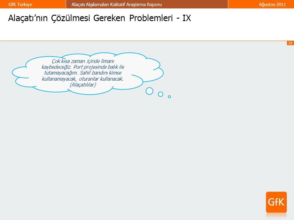 Alaçatı'nın Çözülmesi Gereken Problemleri - IX